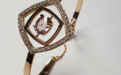 Bracelet rigide en or rose