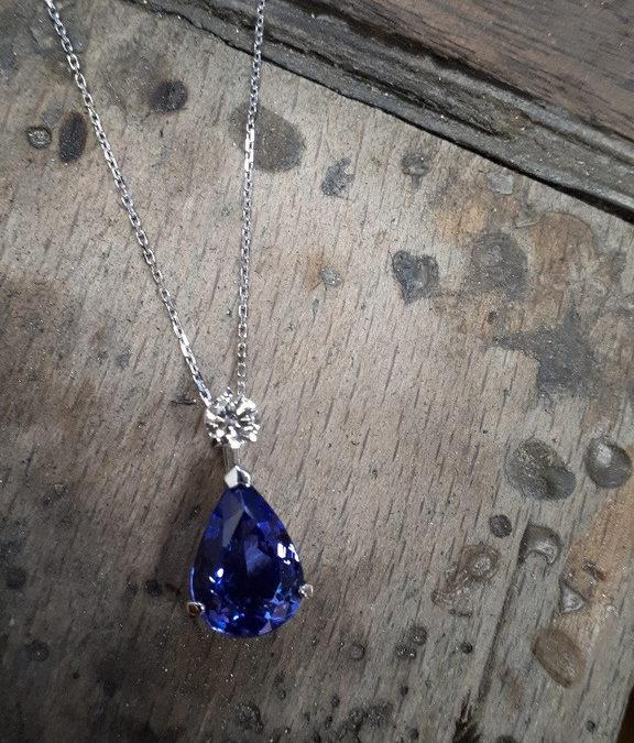 Tanzanite et diamant solo