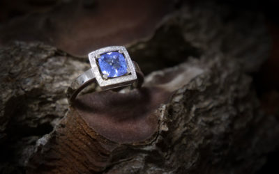 Bague Tanzanite et diamants