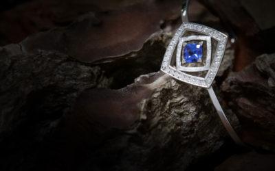 Bracelet rigide Tanzanite et Diamants