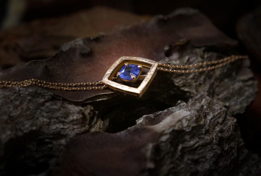 Bracelet souple Tanzanite